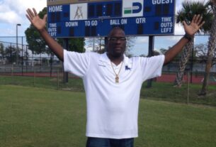 Miami High football Coach Corey Smith