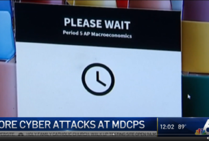 Miami-Dade County Public Schools fell victim to cyber attacks for the third day in a row Wednesday.