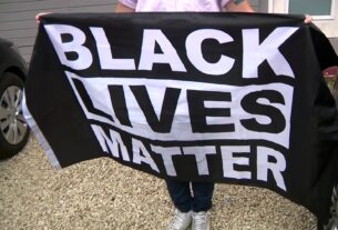 Broward teacher BLM flag