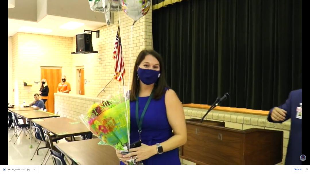 Clay County 2021 principal of the year Jen Halte
