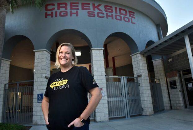 Ali Pressel, an environmental science teacher at Creekside High School.
