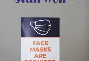 Face masks required sign