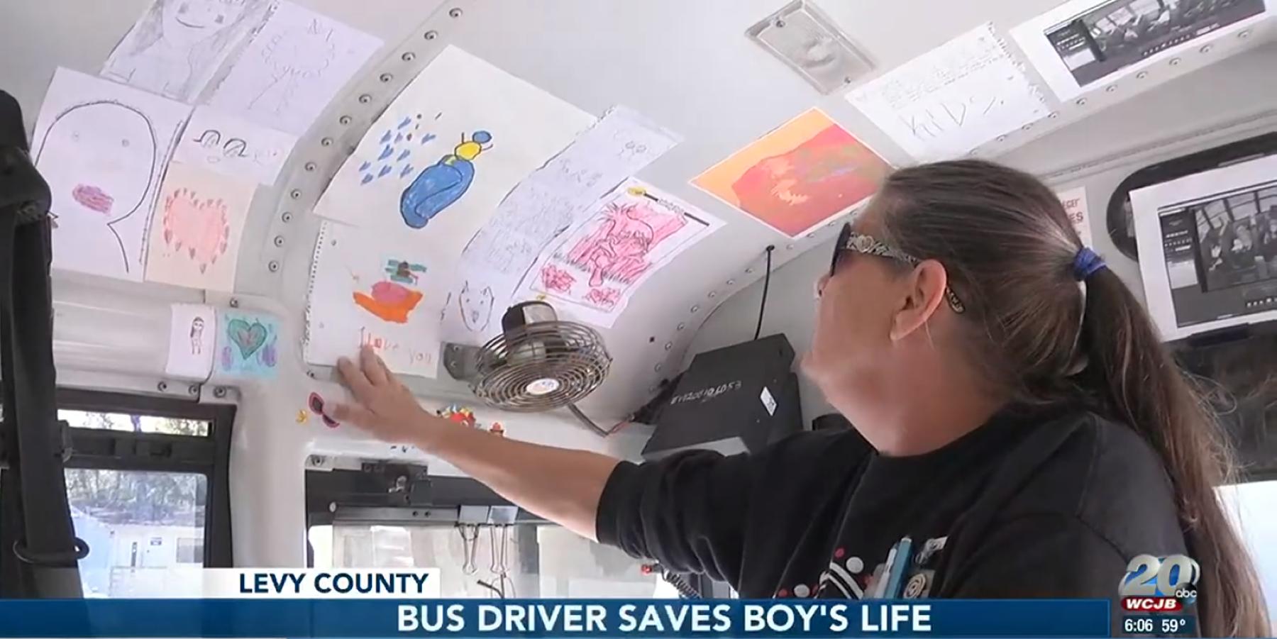 Bus driver Tanya Rivenburg saves boy's life