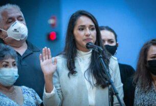 MDCPS School Board Member Luisa Santos swearing
