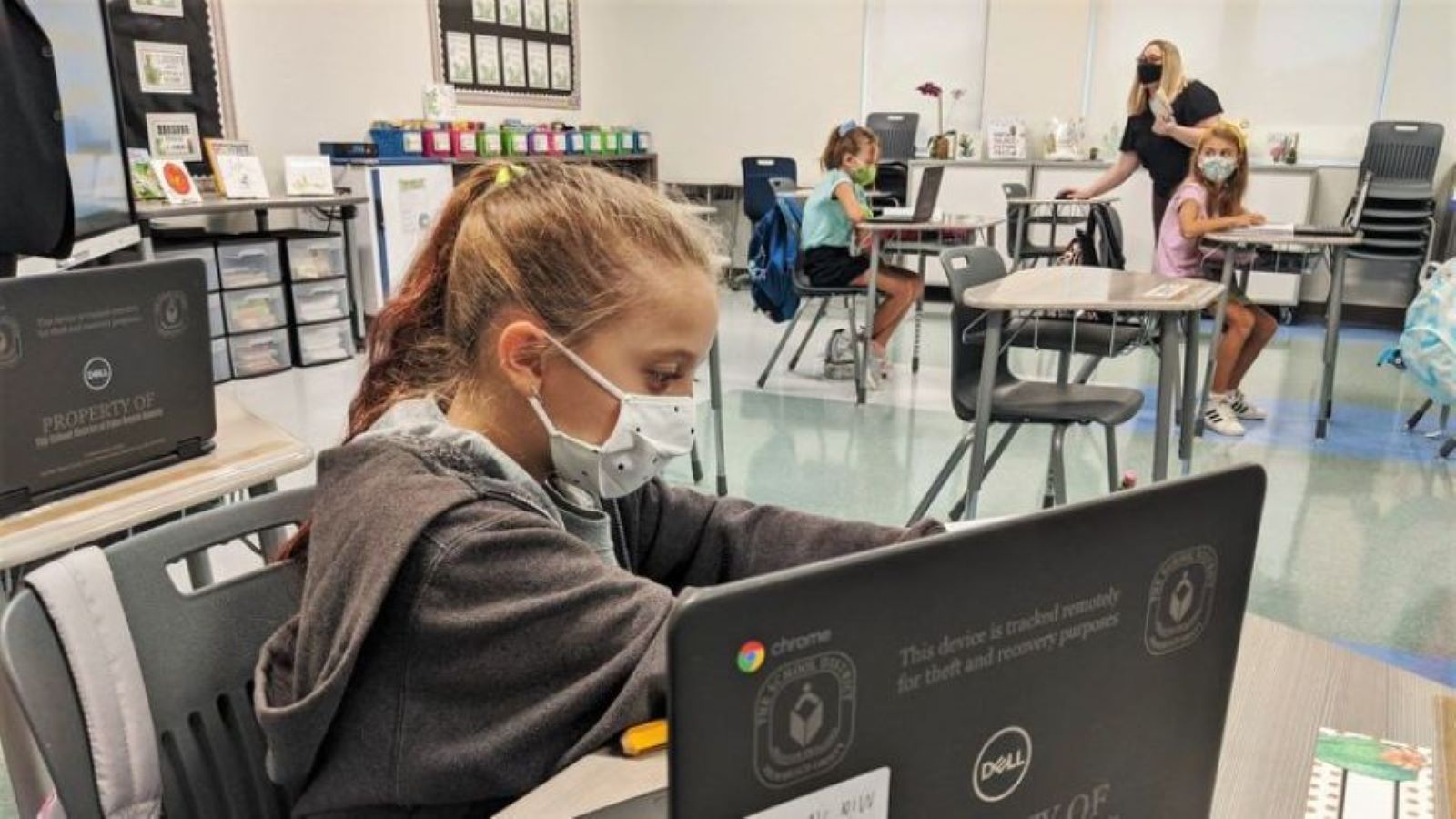 Palm Beach County students returned to in-person classes Sept. 21, 2020, including at the new Verde K-8 in Boca Raton. (Palm Beach County School District/Palm Beach County School District)