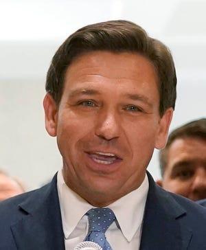 Florida Gov. Ron DeSantis speaks at the end of 2021 legislative session